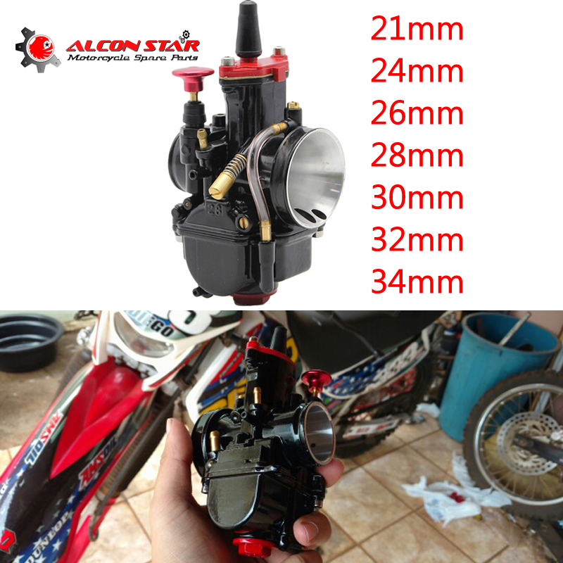 Alconstar 21 24 26 28 30 32 34mm Motorcycle Mikuni PWK Carburetor With Power Jet Motocross