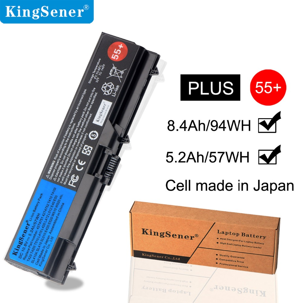 KingSener Laptop Battery For Lenovo ThinkPad SL410 SL410K SL510 E40 E50 E420 T510 W510 L412 T420 T410 T510 L510 L420 L521 55+