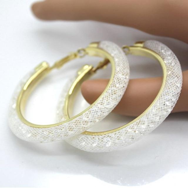 2017 Online Ping India Hot Fashion Cc Mesh Hoop Earrings For Women Vintage Full