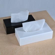 Moderne Boîte De Tissu Acrylique, Support papier, Distributeur de papier TB005