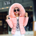 Womens Winter Jackets And Coats  Women's Parkas Thick Warm Faux Fur Collar Hooded Anorak Ladies Jacket Female D104