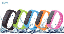 5PCS/Lot Waterproof Bluetooth Smart Bracelet E02 smart Health fitness tracker Sport Remind Smartband Watch For IOS Android