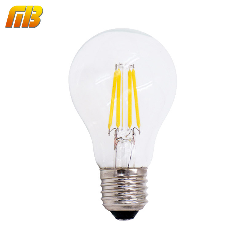 led filament light bulb e27 dimmable ac220v 4w 6w 8w edison a60 warm white bombillas lampada led. Black Bedroom Furniture Sets. Home Design Ideas