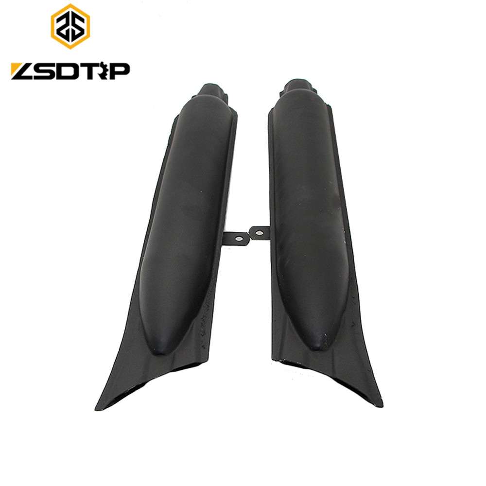 ZSDTRP 1 pair left right KC750 Steel fishtail type motorcycle mufflers case for BMW M1 M71