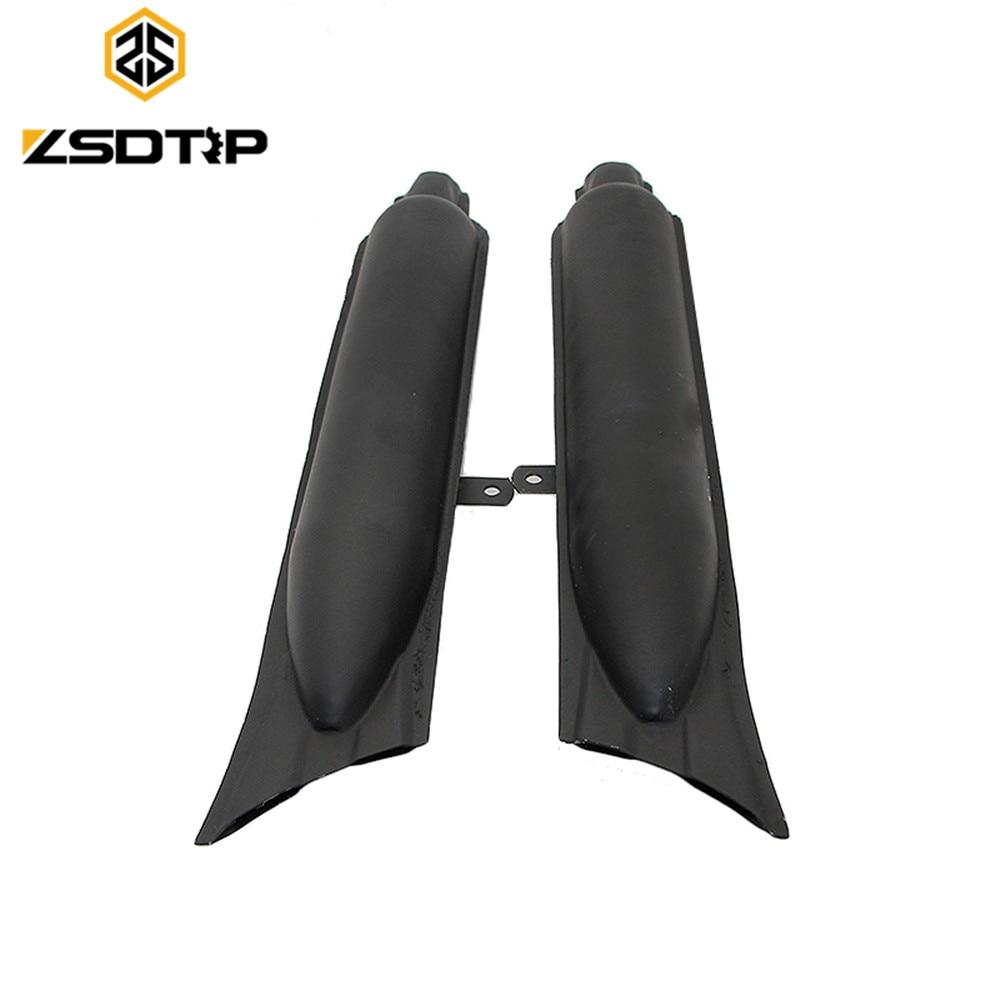 ZSDTRP 1 զույգ ձախ և աջ KC750 Steel fishtail տիպի - Պարագաներ եւ պահեստամասերի համար մոտոցիկլետների - Լուսանկար 1