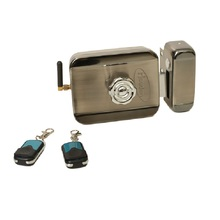 Wireless  remote control motor lock with Battery power supply Electronic Rim Lock