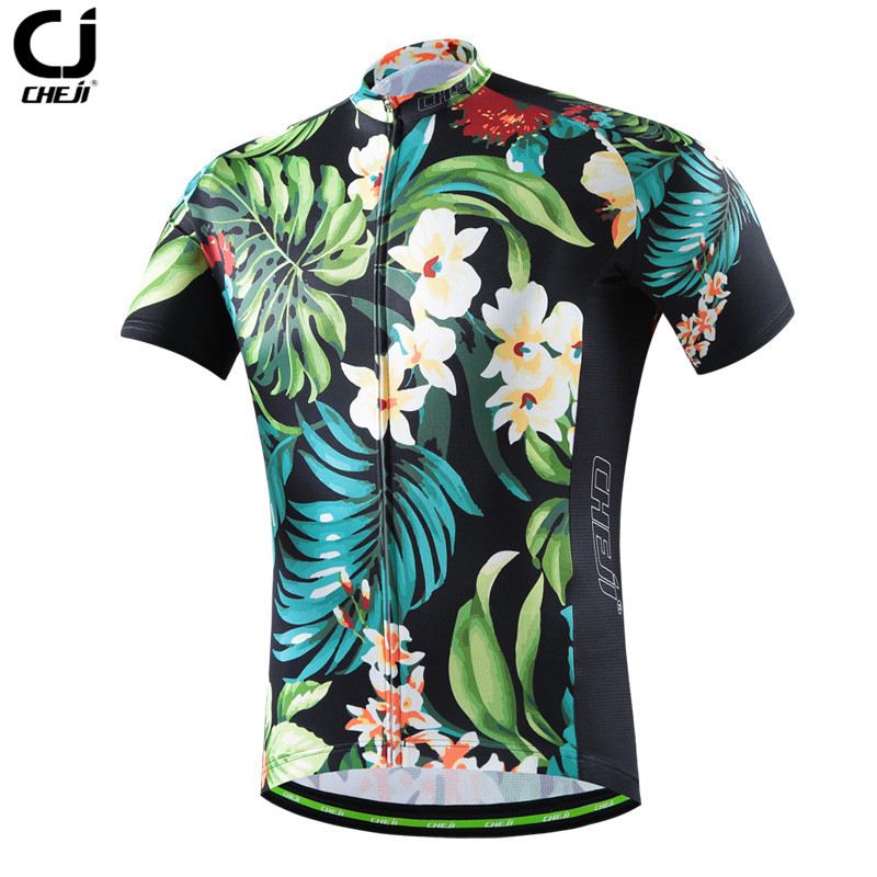 CHE JI Men Retro Cycling Jersey Tight Short-sleeve T-shirt Breathable MTB Bike Bicycle Clothing Wear Quick Dry Sport Jersey quick dry breathable cycling bike jersey short sleeve summer spring women shirt bicycle wear racing tops pants sports clothing