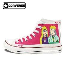 Оригинальная ручная роспись обувь брендовые женские кроссовки Дизайн Poker King queen сердце Q K с высоким берцем Converse Chuck Taylor