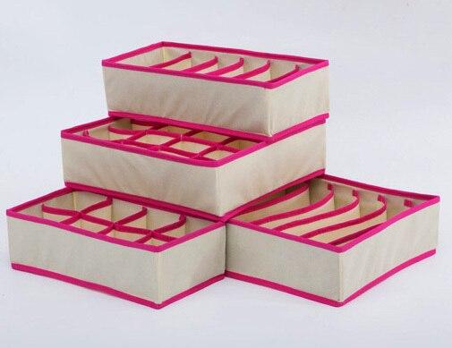 פחי תיבת אחסון הביתה מארגן תחתונים עניבה גרבי חזיית קופסא אחסון ארגונית