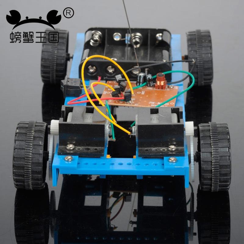 PW Tecnología Invención M12 DIY Mini 4CH RC Coche Divertido Puzzle Educación Jug