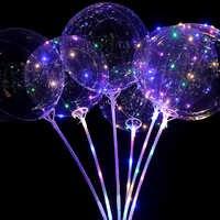 10/20 piezas 20 pulgadas globos Led globo de helio a inflar globos de boda decoraciones de fiesta de cumpleaños globo de helio globo mariage