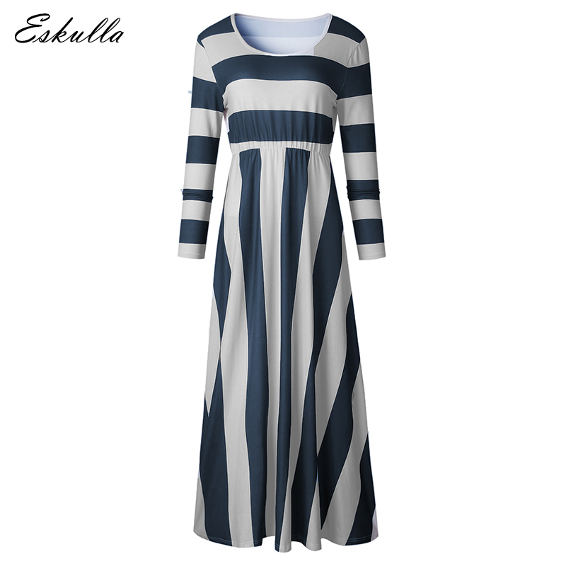 Eskulla Casual Fashion Women Holiday beach Dress Zebra Print O Neck Long sleeved High waist Dresses Women clothing khaki in Dresses from Women 39 s Clothing