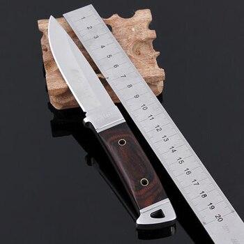 Cuchillo de caza de acero inoxidable Navajas Cuchillo Mes Cuchillo de caza...