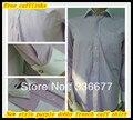 Бесплатная доставка итальянский стиль мужской элегантный длинный рукав большой размер контрастность цвет фиолетовый добби французские манжеты рубашки QR-2384