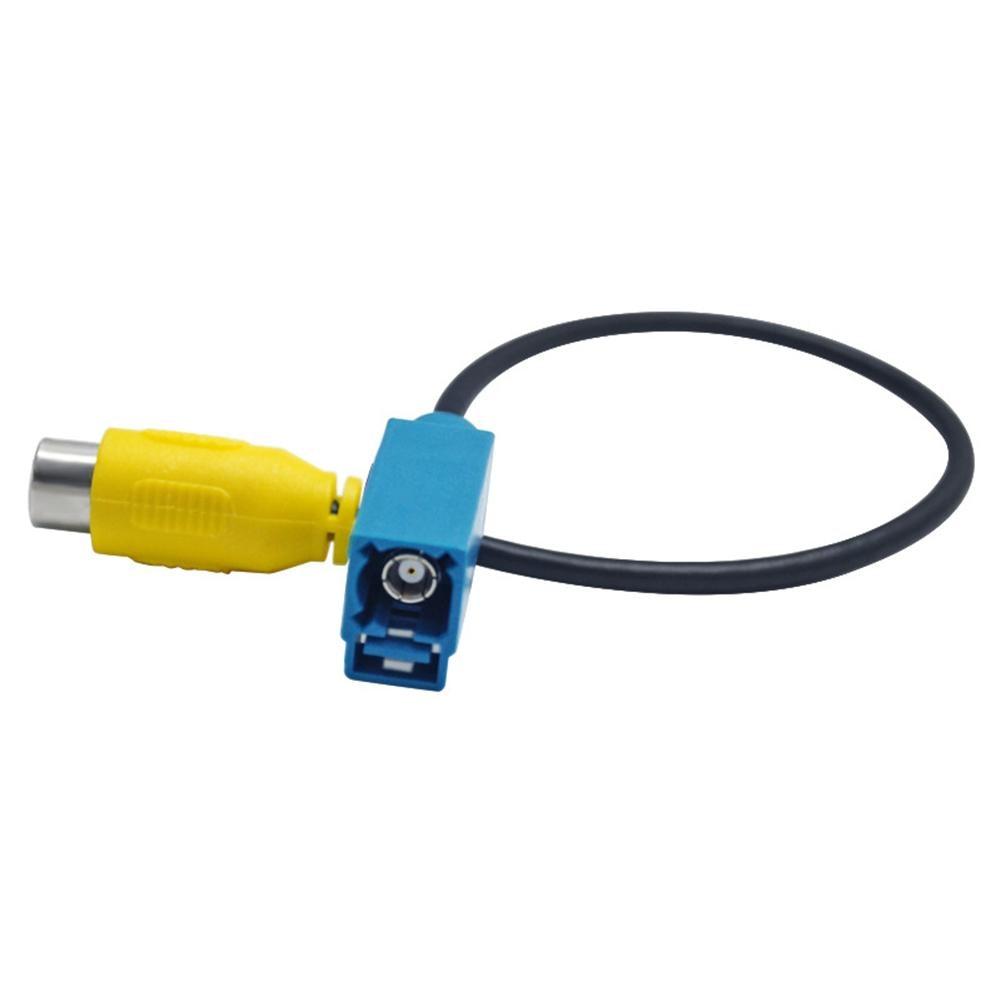 Автомобильный Реверсивный адаптер для видеокамеры Fakra RCA кабель для Mercedes-Benz E280/E300/GLK