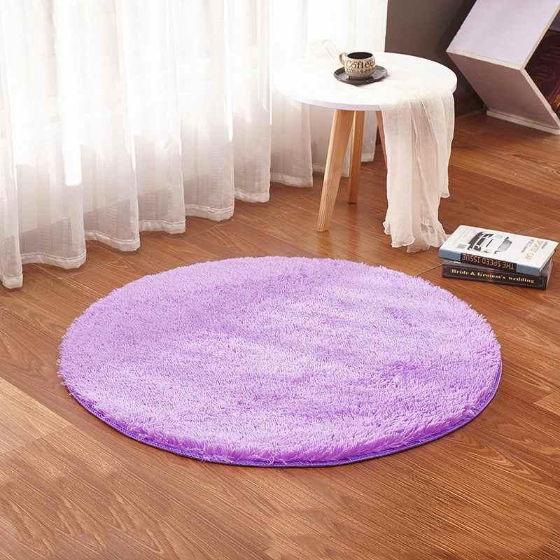 Белого цвета круглый коврик ковер Гостиная ковер для детской комнаты ковры мягкий и пушистый теплый, пользовательский размер, диаметр 60,80, 100160 см