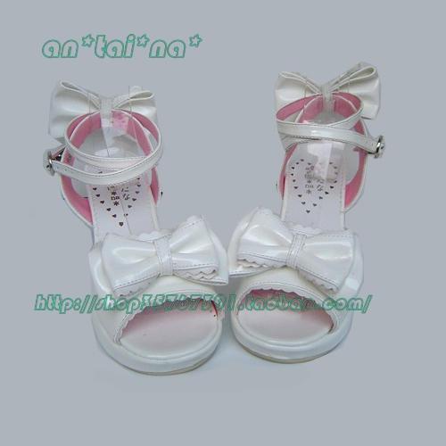 Princess sweet lolita gothic lolita sandals custom  lolita cos punk bow princess sandals 9813 chromophous  lolita shoes summer аксессуары для косплея cosplay wig cosplay cos cos