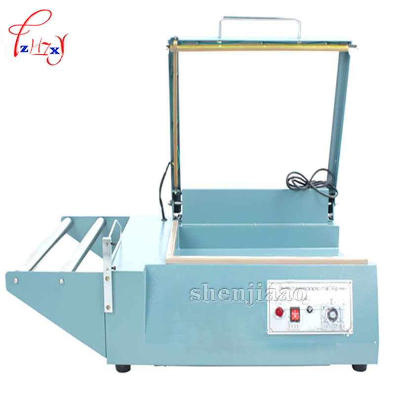 Manual sealing machine sleeve plastic wrapping bag sealer shrink film sealing machine PVC plastic sealer plastic film sealing strong sealing seam machine vertical sealing date printing seal belt 0805005l