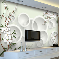Beibehang papel de parede fond d'écran Personnalisé Moderne boutique élégant frais fleurs 3D salon TV toile de fond mur tapety