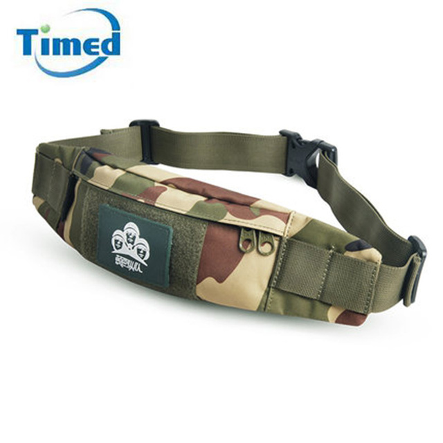 2017 New Brand Men Women High Quality Waist Packs Camouflage Phone Waist Bags Oxford Waterproof Casual Small Chest Bags