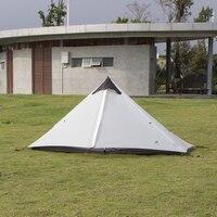 3F Lanshan 1 одиночный ультра легкий 15D покрытый кремнием бесшумные палатки дождь Ветер Открытый Кемпинг