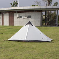 3F Lanshan 1 Single Ultra Light 15D Coated With Silicon Rodless Tents Rain Wind Outdoor Camping