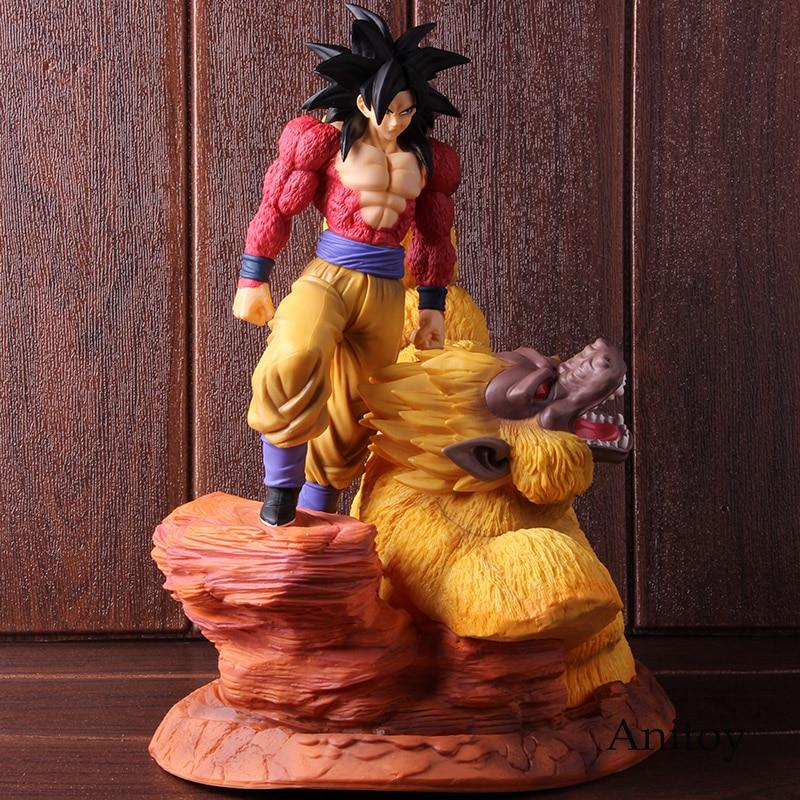 DBZ Dragon Ball Z Super saiyanina 4 synem Gokou złoty małp człekokształtnych sceny statua DBZ pcv Goku SSJ4 figurka kolekcjonerska modelu zabawki w Figurki i postaci od Zabawki i hobby na  Grupa 2
