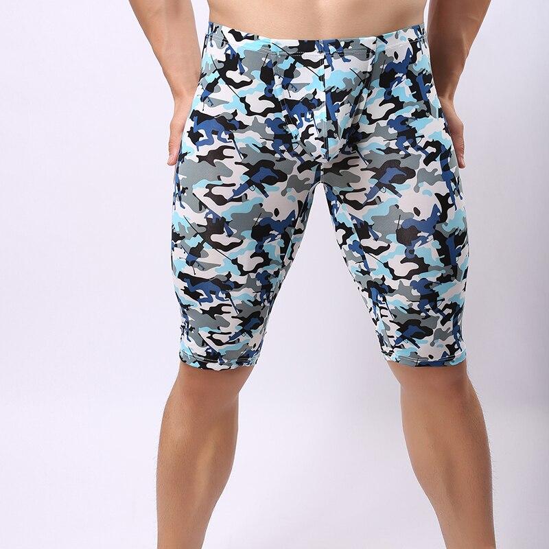 2017 Sommer Stil Camouflage Print Männer Sexy Fitness Pijamas Homosexuell Männlichen Dünnen Hause Pyjamahose/lounge Hosen Größe S M L