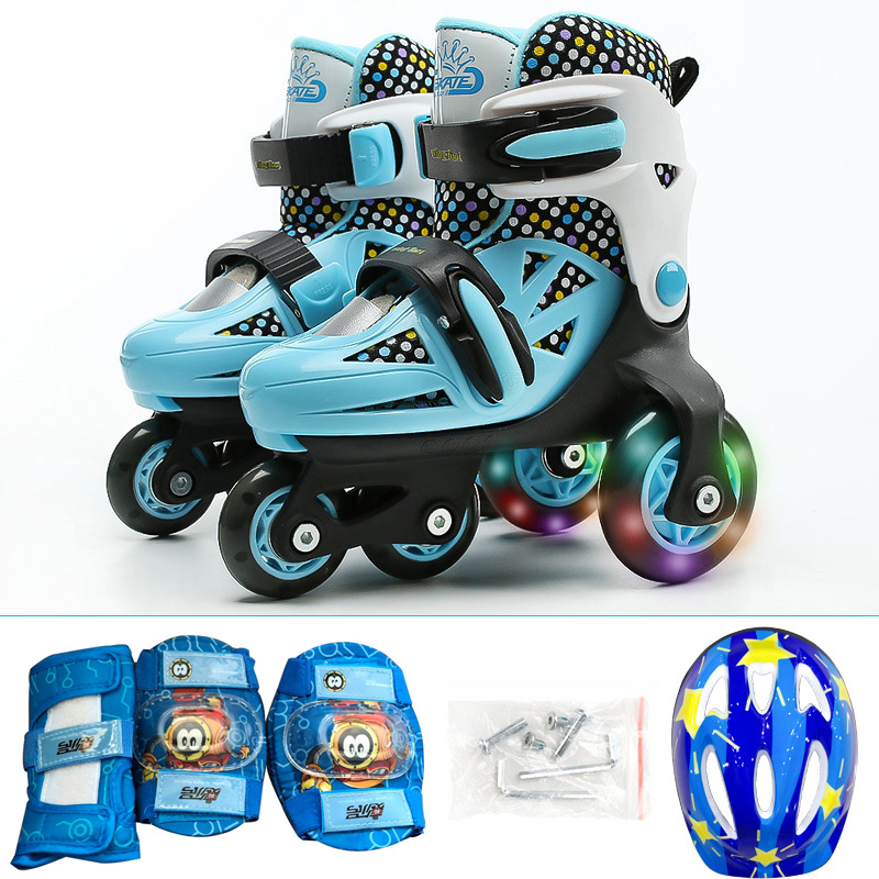 Kids Children Lovely Stable Balance Slalom Parallel Flashing Ice Skate Roller UNBreak Shoes Adjustable Washable Fall