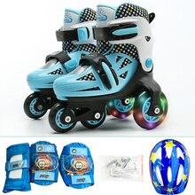 Детские роликовые коньки обувь прекрасная устойчивая балансировка Slalom параллельные небьющиеся Регулируемые моющиеся осенние патины для начинающих