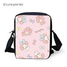 ELVISWORDS Fashion Women Messenger Bags Kawaii Girls Prints Shoulder Cartoon Animal Flaps Handbags Mini Kids Mochila