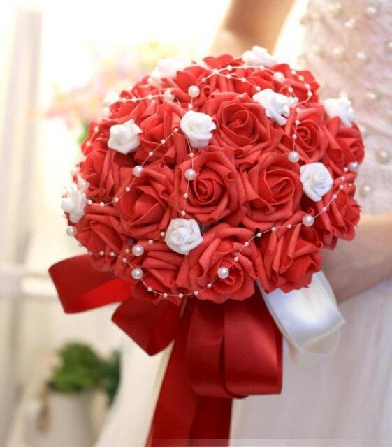 30 шт. Розы невесты с цветами в руках искусственные цветы розы свадьба фотостудия стрелялки реквизит холдинг Букет Невесты
