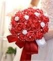 30 unids Rosa novia con flores flores artificiales rosas de boda photo studio shooting atrezzo celebración Ramo de Novia