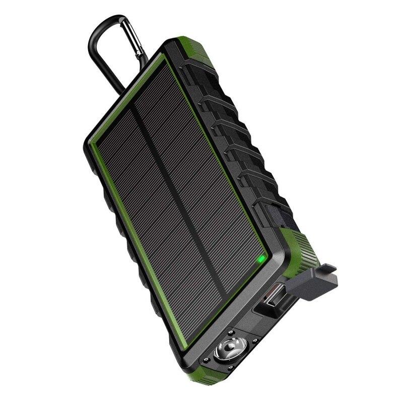 EasyAcc batterie portable solaire 24000 mAh QC3.0 chargeur chargeur de batterie externe étanche batterie de secours solaire pour Smartphone avec LED