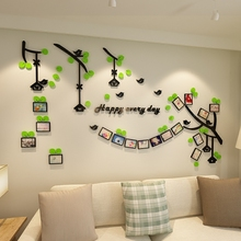 Creative INS photo frame tree DIY Childrens room bedroom home living TV background wall decoration 3D acrylic sticker