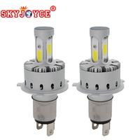 SKYJOYCE One Pair LED Car Headlight COB Chips H1 H4 H7 H11 9005 9006 DC12V 24V