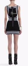 Striped Sleeveless Bandage Dress