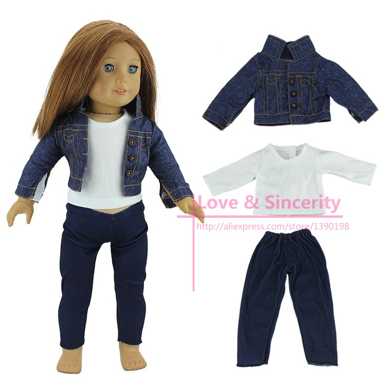 3pcs/set Fashion Dress Suit For 18 Inch American Girl Doll, American Girls Clothes american girl doll clothes for 18 inch dolls beautiful toy dresses outfit set fashion dolls clothes doll accessories