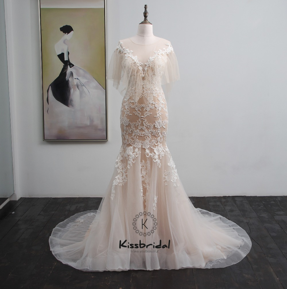 c0cdf553a4c Vestido de noiva longo New Design 2018 Wedding Dress Scoop Neck Long  Sleeves Chapel Train Ball Gown Lace Tulle Bridal GownsUSD 369.00 piece ...
