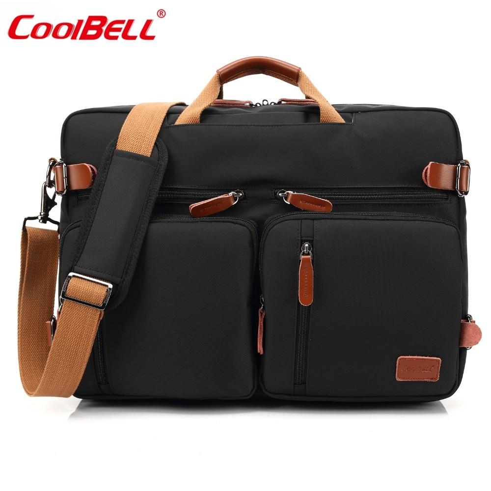 CoolBELL 17.3 Inch Convertible Backpack Messenger Bag Handbag Laptop Briefcase Multifunctional Travel Rucksack Fits Dell/Lenovo