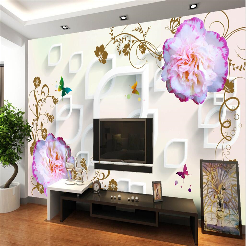 bedroom templates sofa decorative painting living fresco stereo beibehang wallpapers