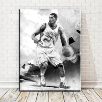 Xdr256 Famous Basketball Star Black And White Man Art Printings Poster Prints HD Wallpaper For Study