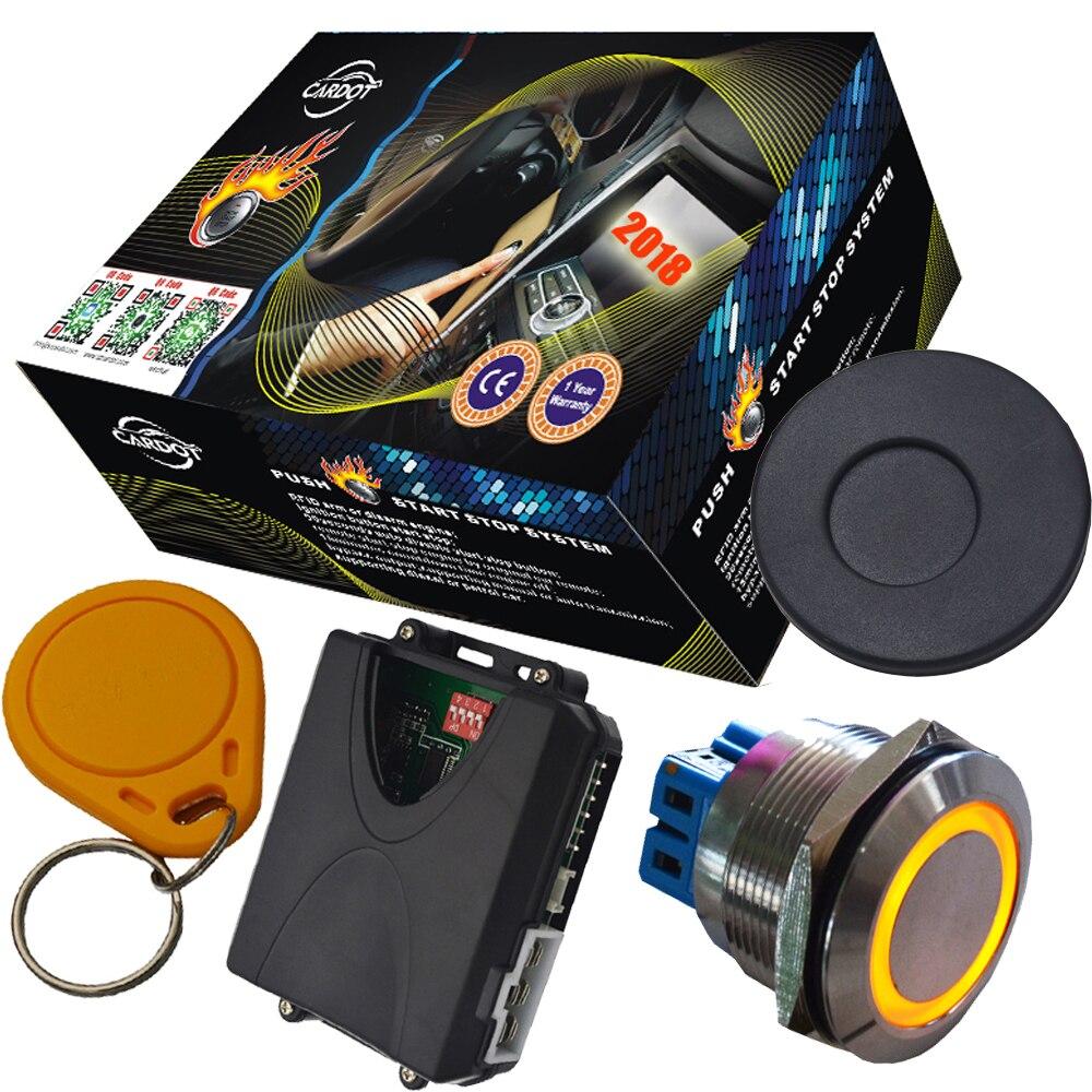 Système d'alarme auto invisible pour voiture protection anti-démarrage rfid bouton d'arrêt étanche sortie de contournement pour voiture à puce