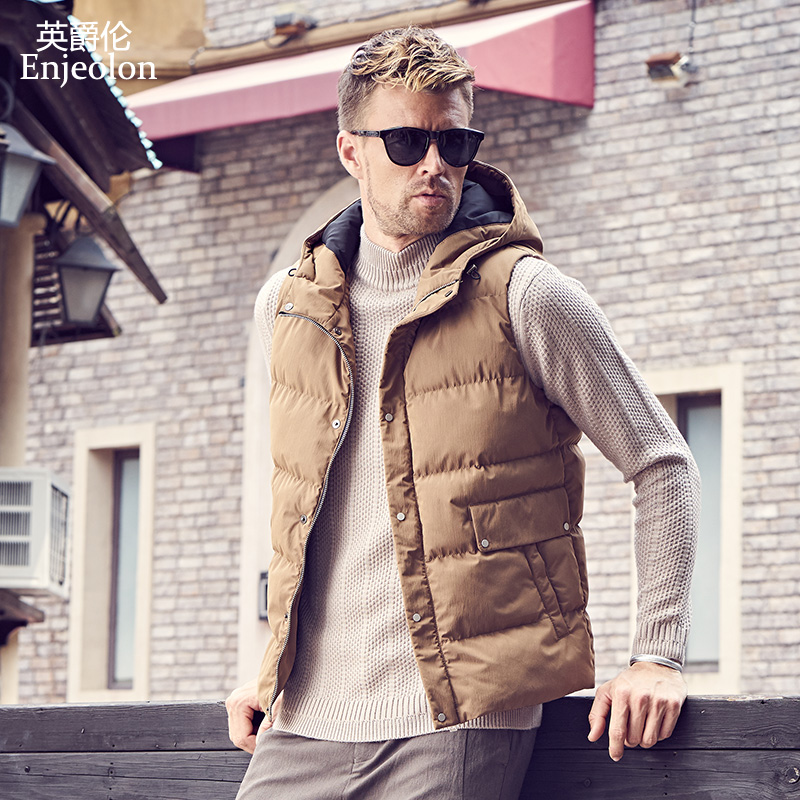 Initiative Enjeolon Brand Winter Cotton Padded Hoodies Vest Coat Men Thick Vest Hooded Parka Coat Male Quilted Winter Vest Coat 3xl Mf0719 Consumers First Vests & Waistcoats