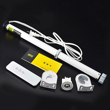 Electric Roller Blind Shade AC 100-240V Tubular Motor Blind Tubular Motor Kit Remote Control Aluminum Alloy For Home Decoration