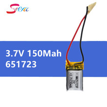 1 pcs 3.7V 150mah li-po battery 651723 for Syma S107 S107G S107-19 Skytech M3 Replacement Spare Parts for RC Helicopter