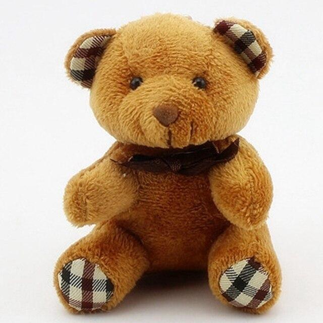Crianças Brinquedos de Pelúcia Animais Urso Fofo 8 cm Urso de Peluche Bonito Brinquedos de Pelúcia Keychain Saco Chave Do Carro Titular para Pingente boneca