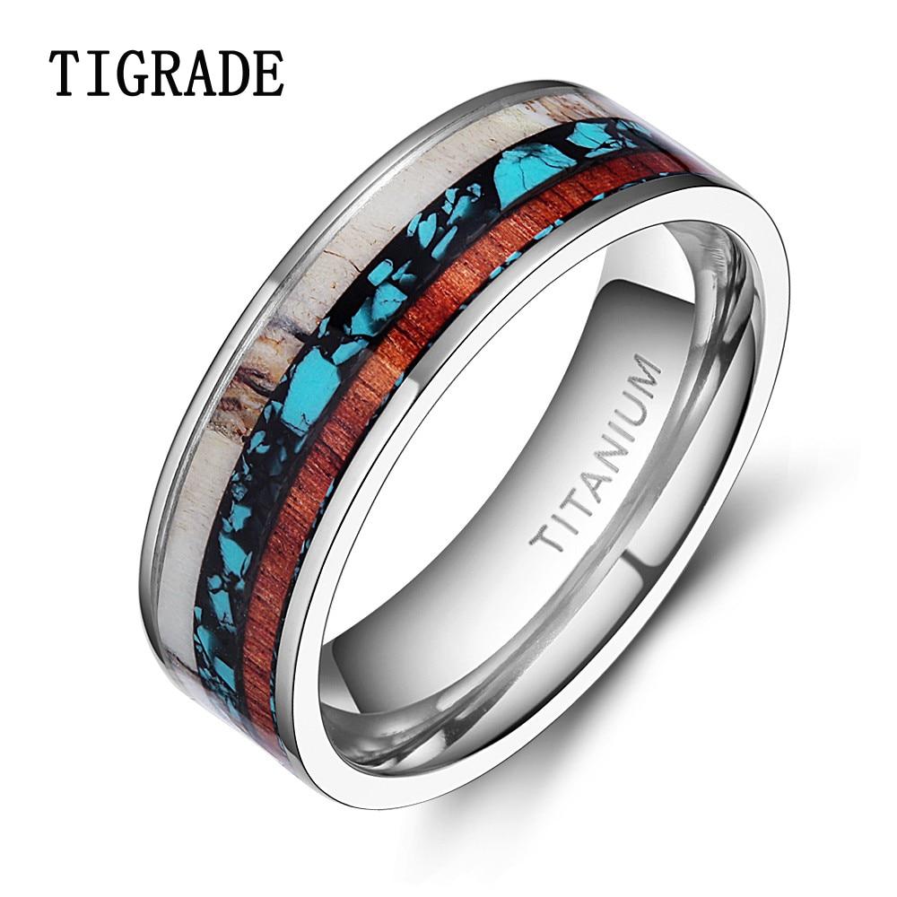 antler wedding ring oak titanium sleeve antler wedding ring antler ring