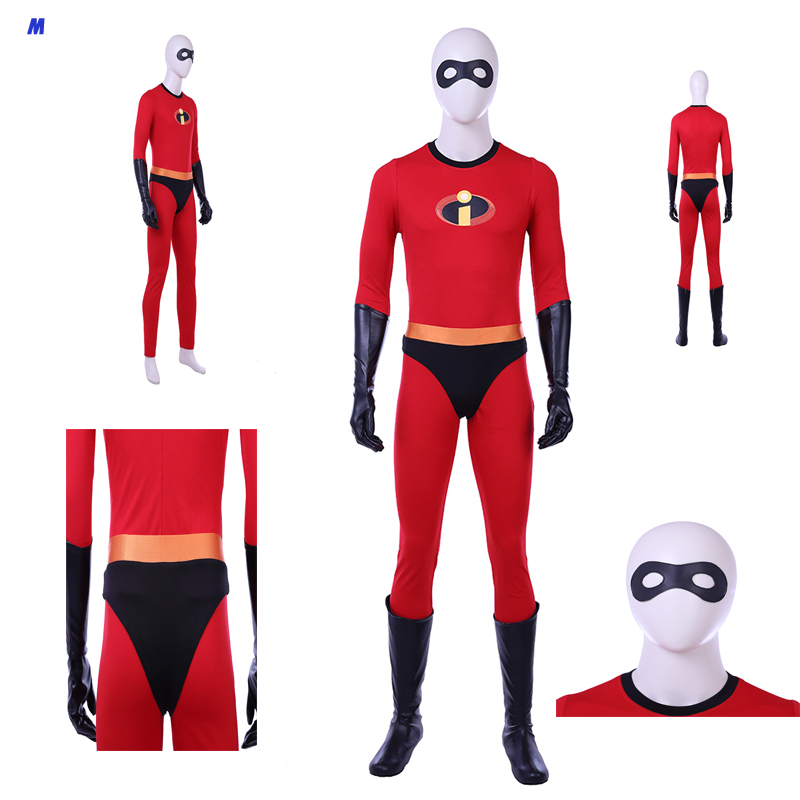 New Arrival The Incredibles 2 Mr.incredible Bob Parr Costume Cosplay Costume Halloween Outfit Custom Size