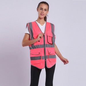 Image 3 - Pink Safety Vest Women High Visibility Work Clothes Uniforms With Pockets